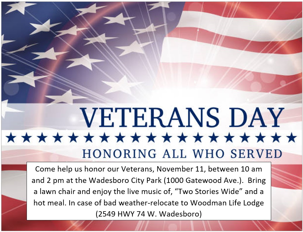 Veterans Day 2019 Information