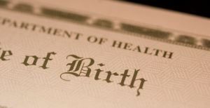 Department of Health Certificate of Birth